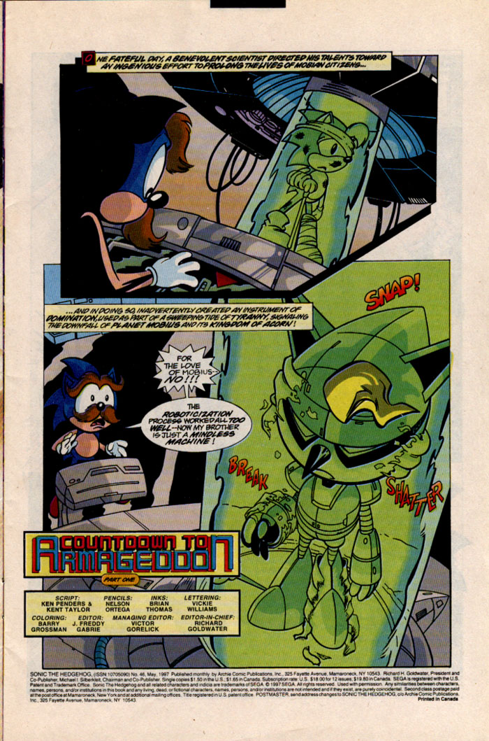 Sonic - Archie Adventure Series May 1997 Page 1