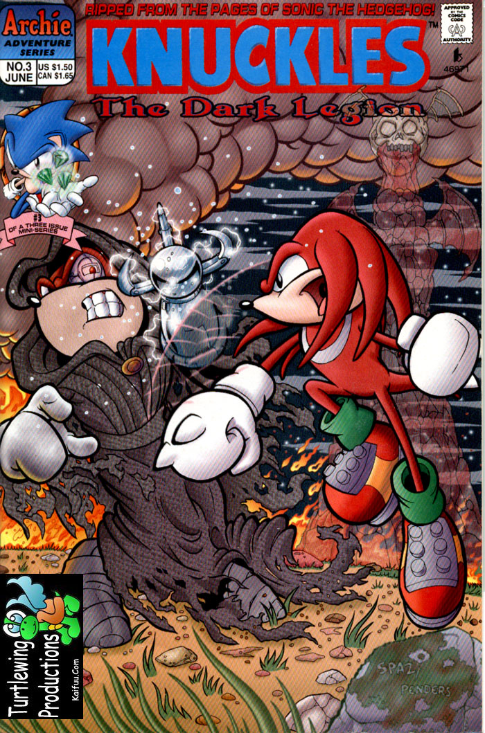 Knuckles - June 1997 Comic cover page