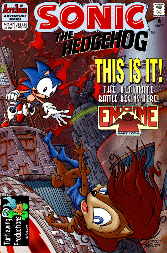 Sonic - Archie Adventure Series June 1997 Comic cover page