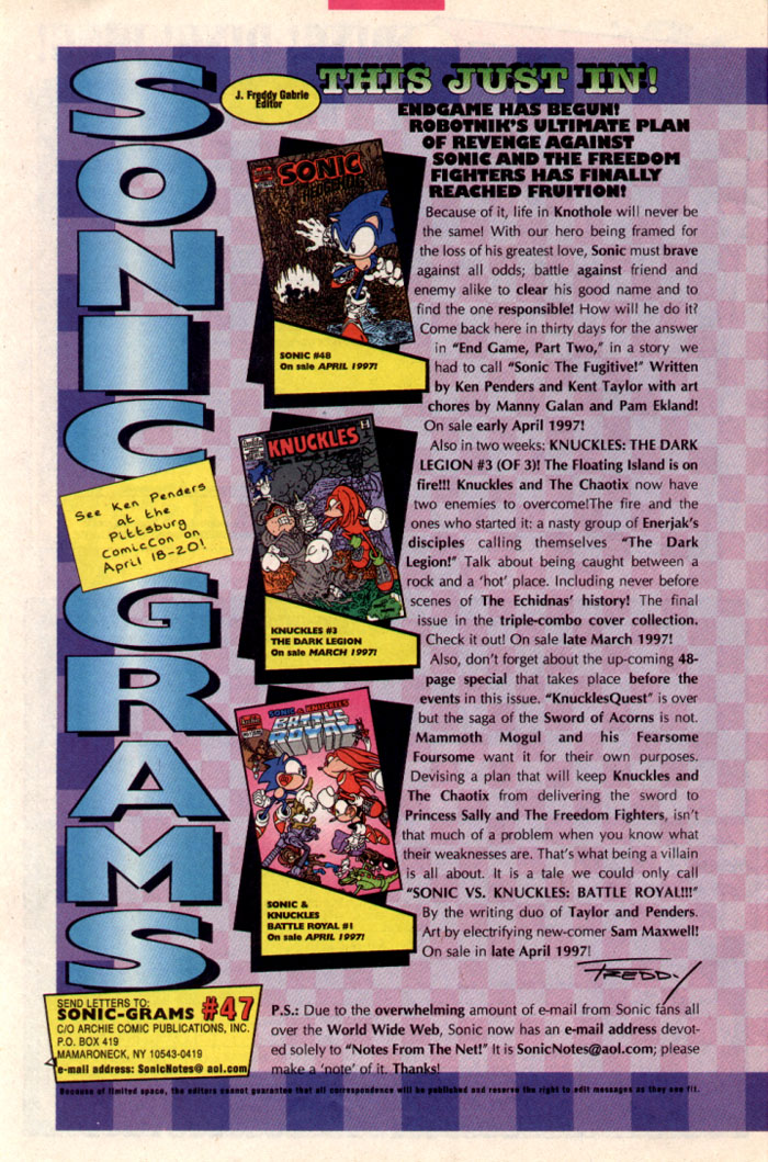 Sonic - Archie Adventure Series June 1997 Page 26