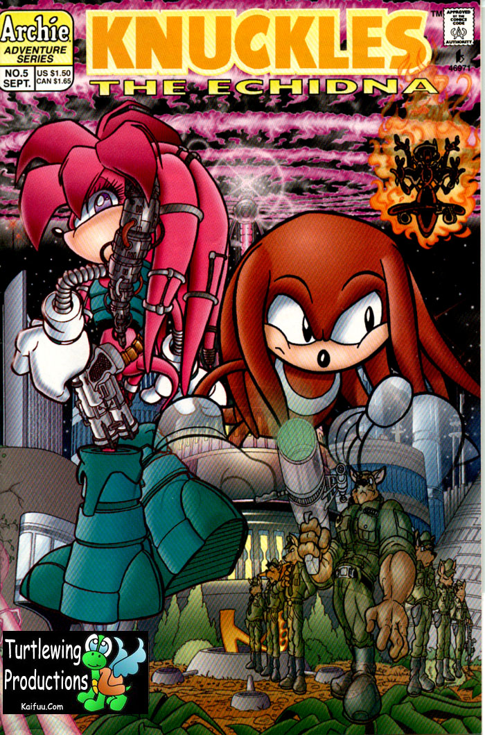 Knuckles - September 1997 Comic cover page