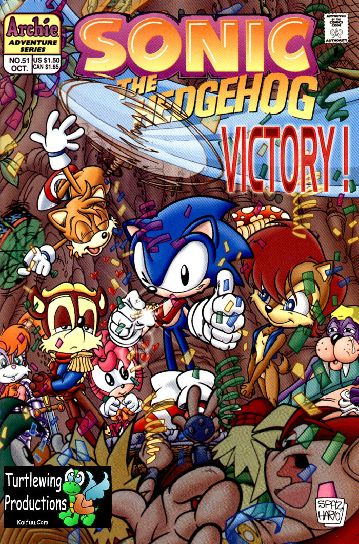 Sonic - Archie Adventure Series October 1997 Comic cover page