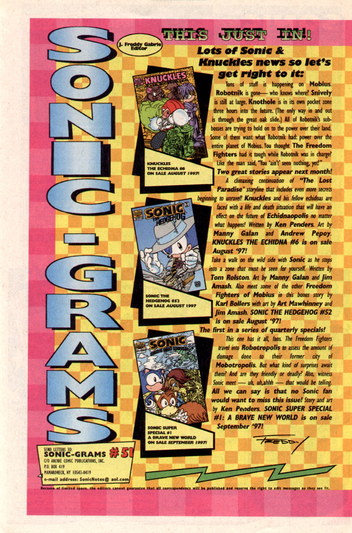Sonic - Archie Adventure Series October 1997 Page 27