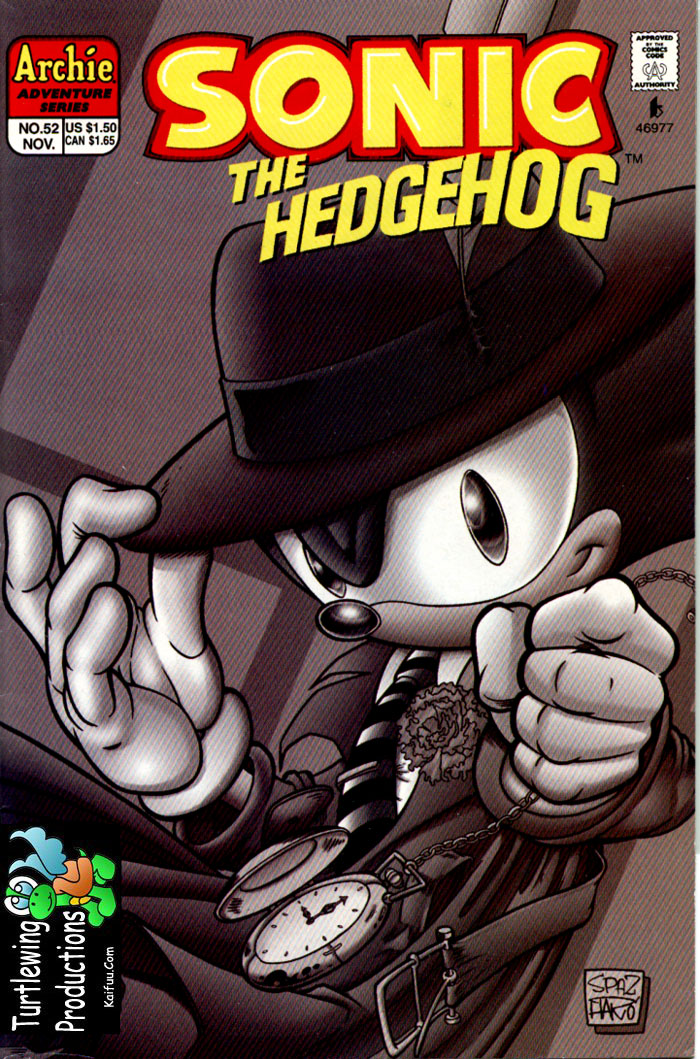 Sonic - Archie Adventure Series November 1997 Comic cover page