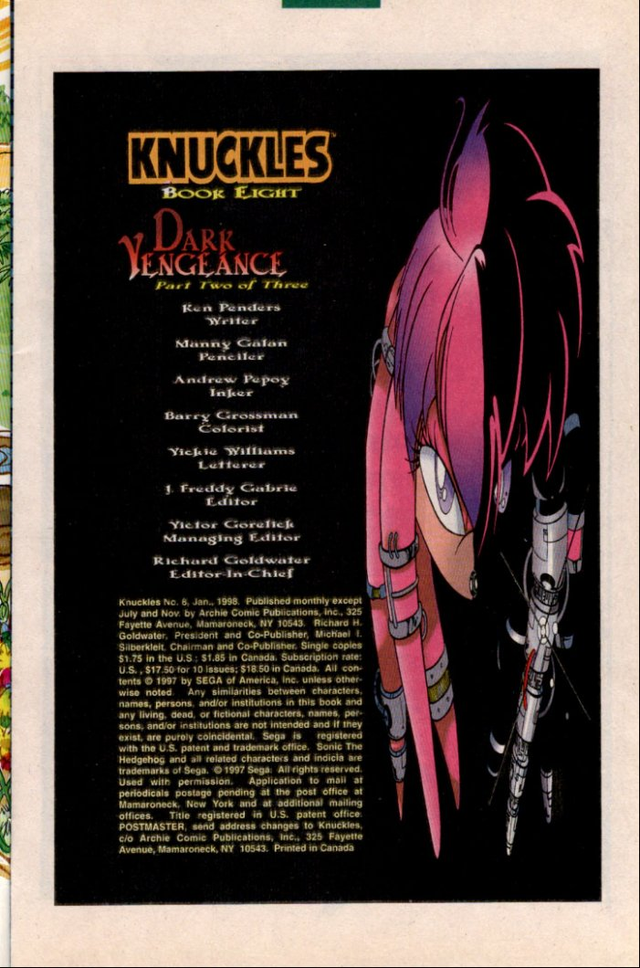 Knuckles - January 1998 Page 1