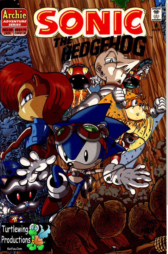 Sonic - Archie Adventure Series January 1998 Comic cover page