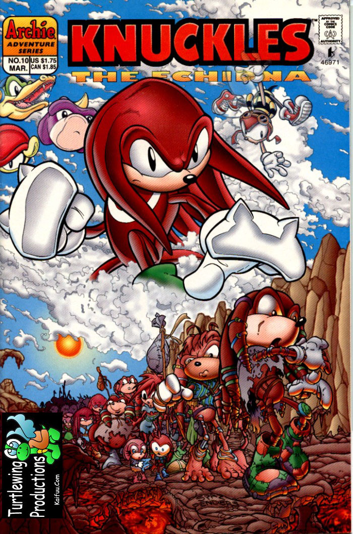 Knuckles - March 1998 Comic cover page