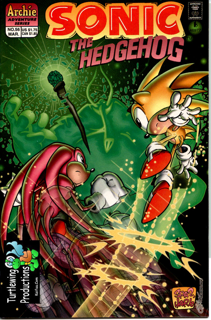 Sonic - Archie Adventure Series March 1998 Comic cover page