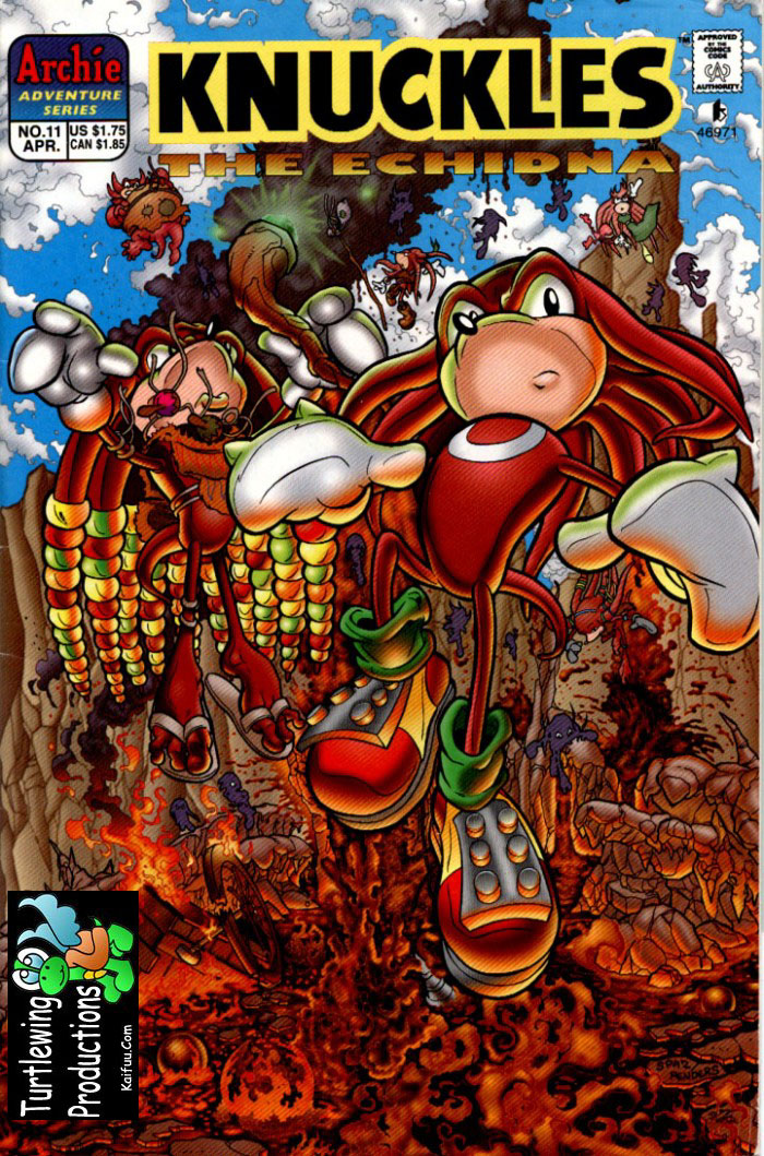 Knuckles - April 1998 Comic cover page