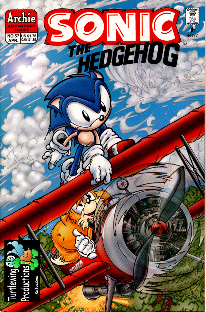 Sonic - Archie Adventure Series April 1998 Cover Page