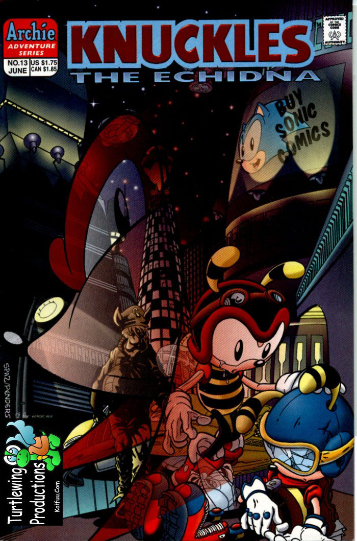 Knuckles - June 1998 Comic cover page