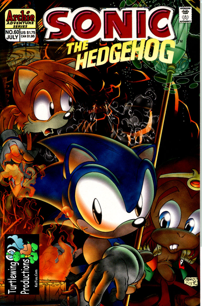 Sonic - Archie Adventure Series July 1998 Comic cover page