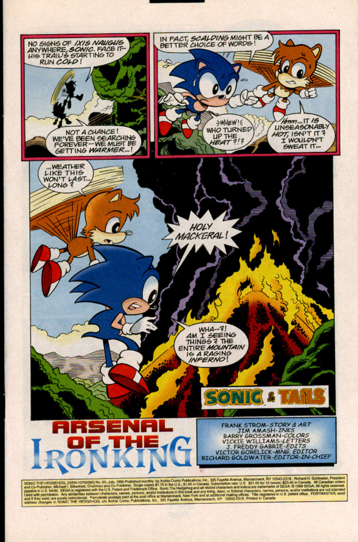 Sonic - Archie Adventure Series July 1998 Page 1