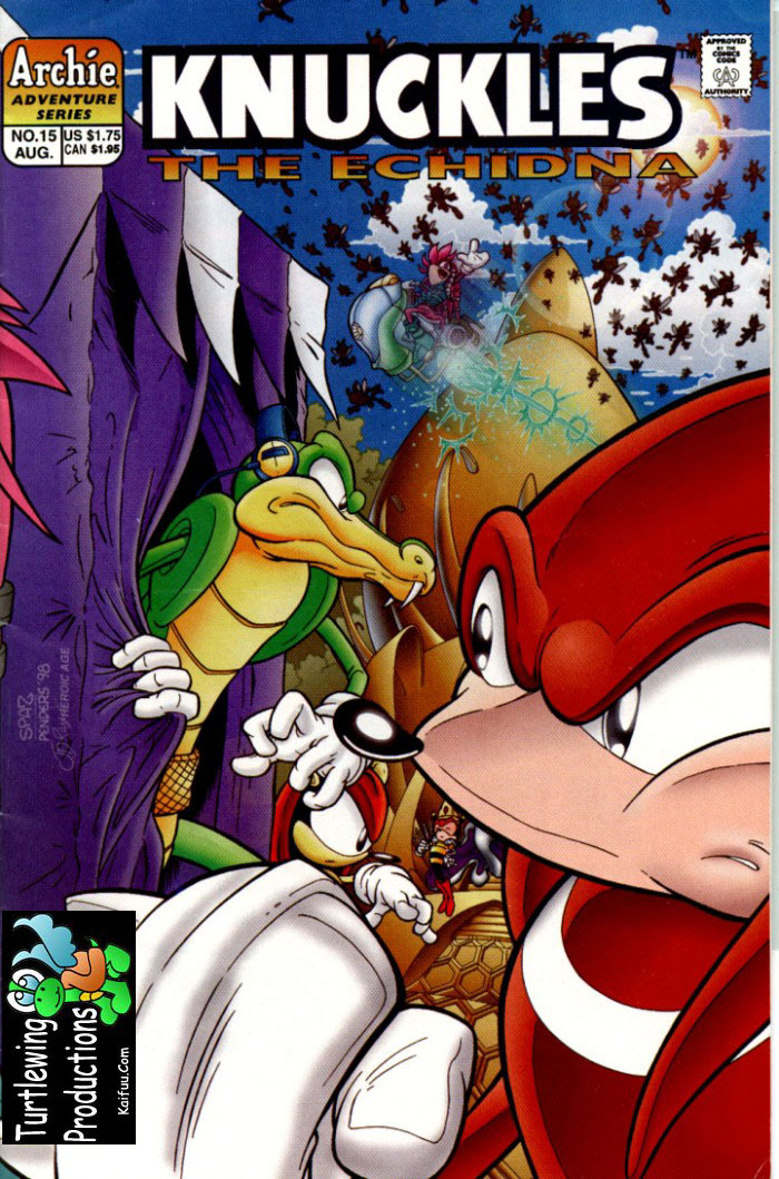 Knuckles - August 1998 Comic cover page