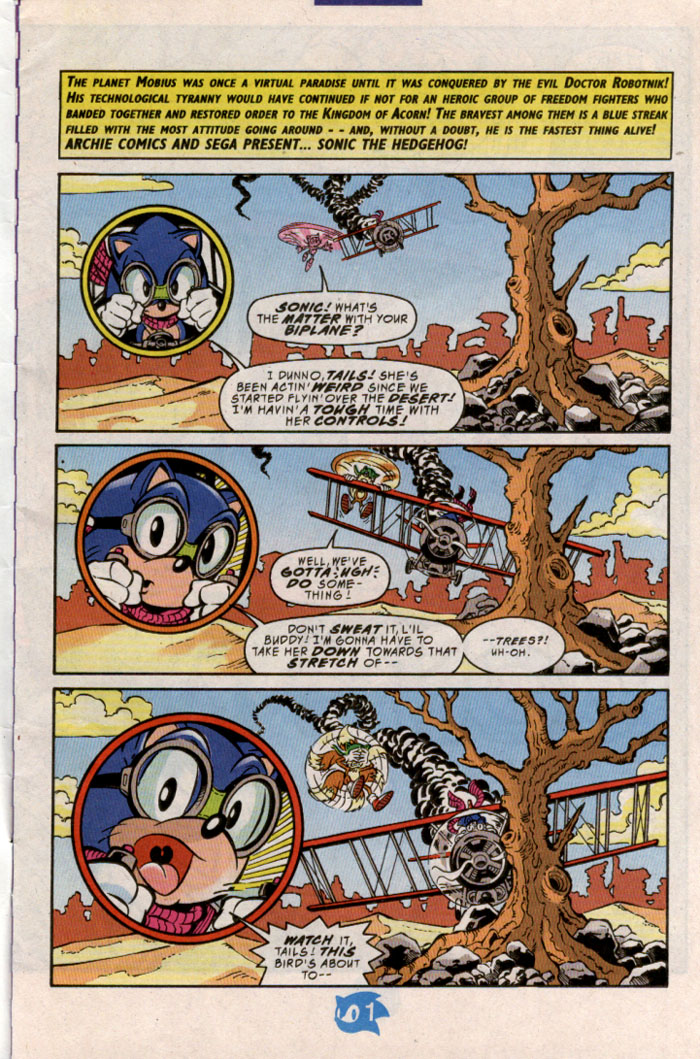 Sonic - Archie Adventure Series September 1998 Page 1