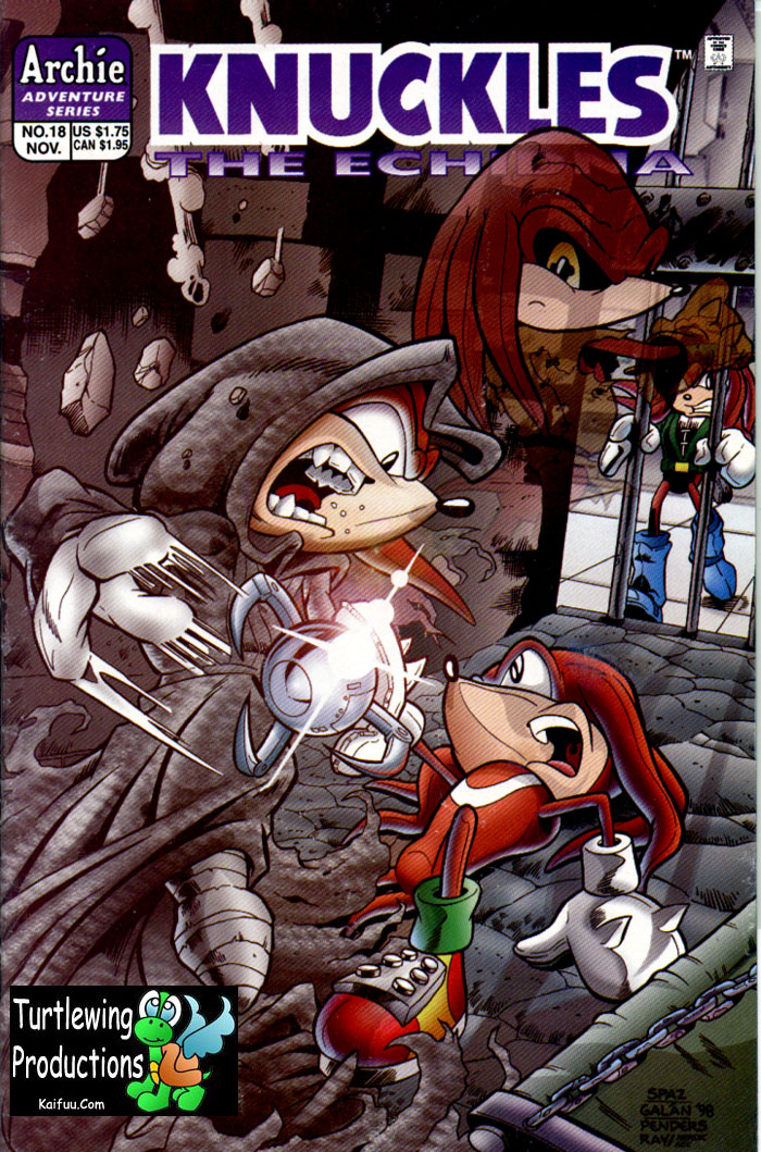 Knuckles - November 1998 Comic cover page