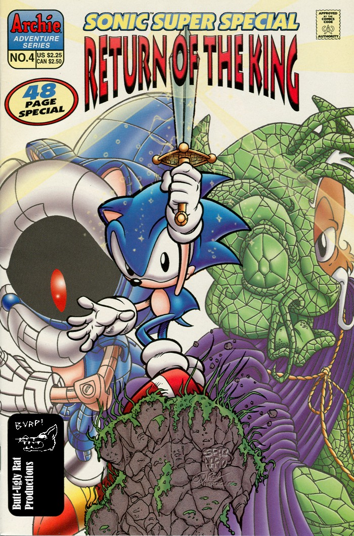 Sonic - Archie Adventure Series (Special) 1998a  Comic cover page