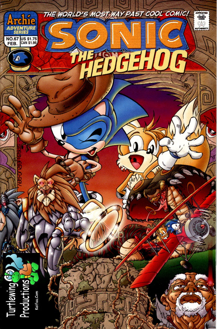 Sonic - Archie Adventure Series February 1999 Comic cover page