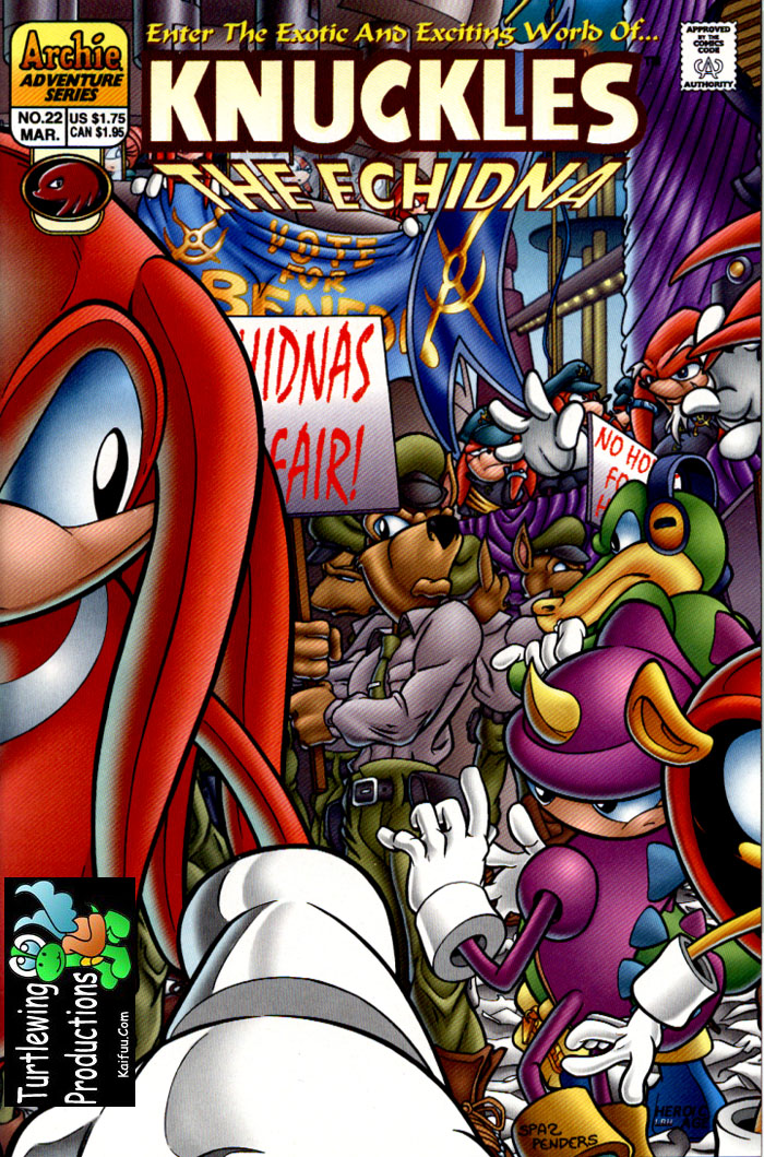 Knuckles - March 1999 Comic cover page