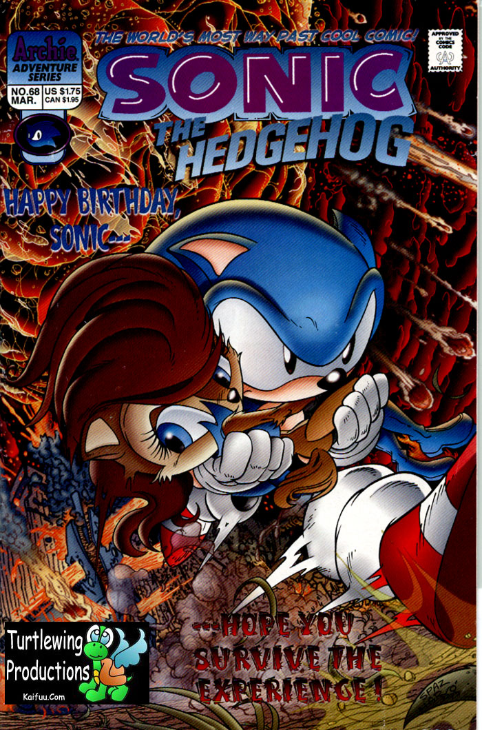 Sonic - Archie Adventure Series March 1999 Cover Page