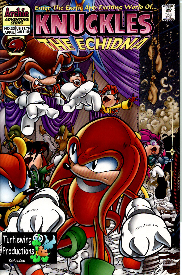 Knuckles - April 1999 Comic cover page