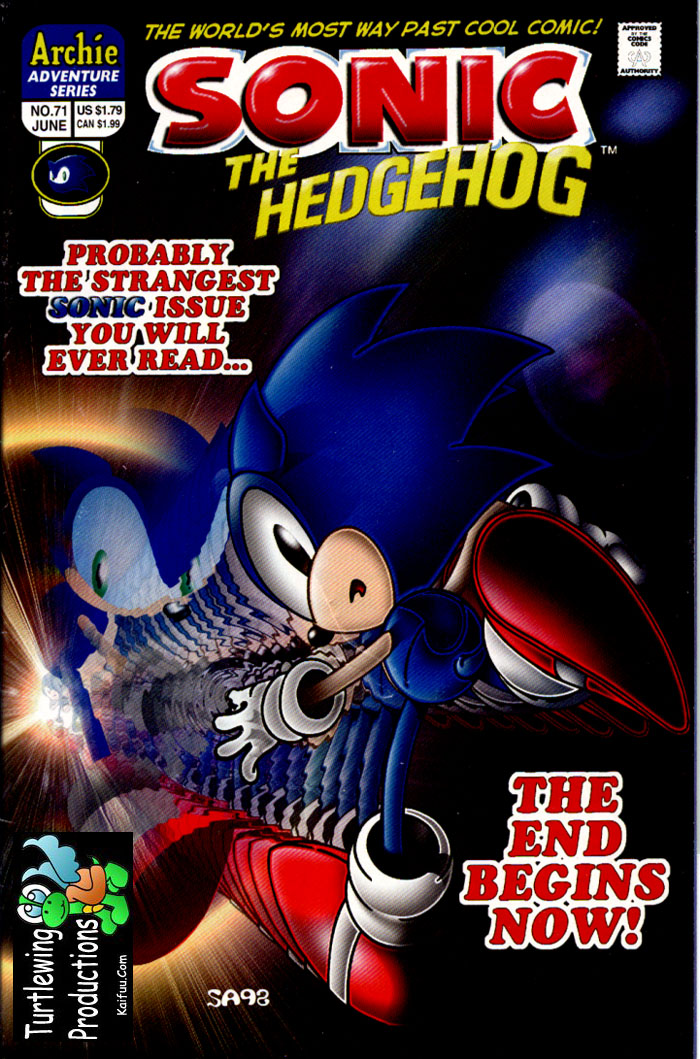 Sonic - Archie Adventure Series June 1999 Comic cover page
