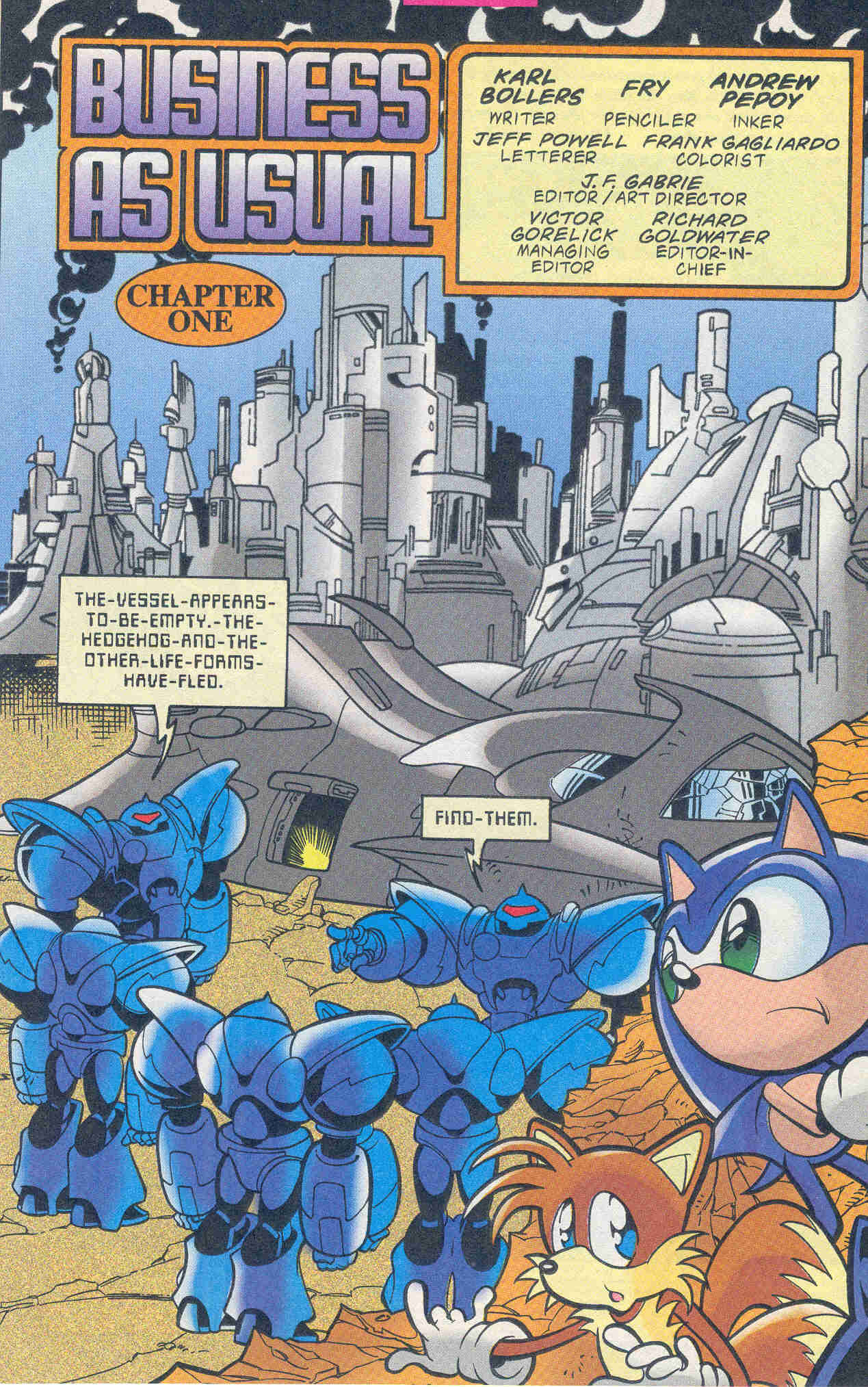 Sonic - Archie Adventure Series November 1999 Page 2