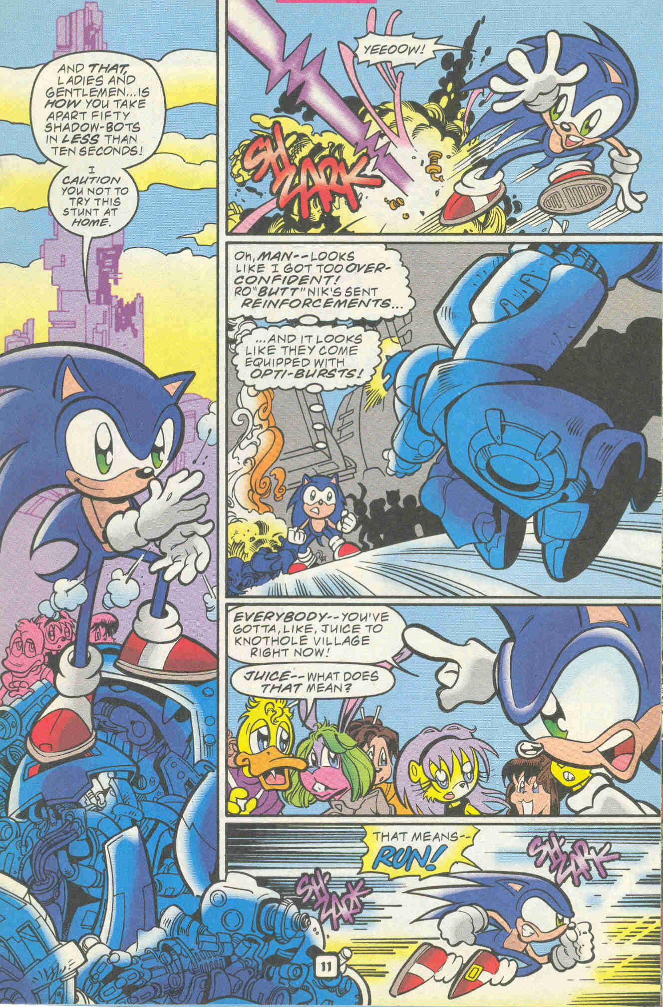 Sonic - Archie Adventure Series November 1999 Page 11