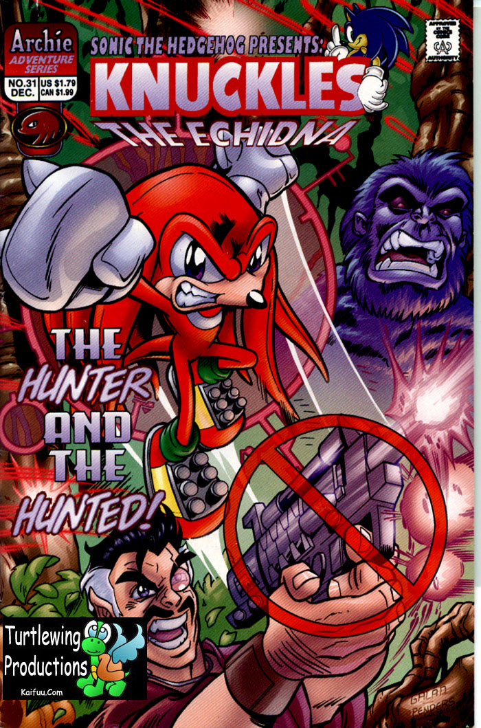 Knuckles - December 1999 Comic cover page