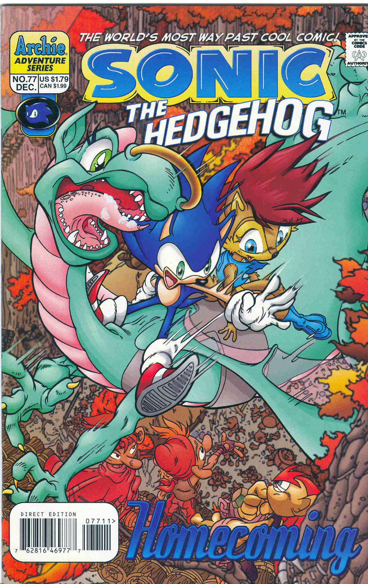 Sonic - Archie Adventure Series December 1999 Comic cover page