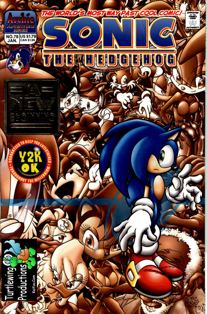 Sonic - Archie Adventure Series January 2000 Comic cover page