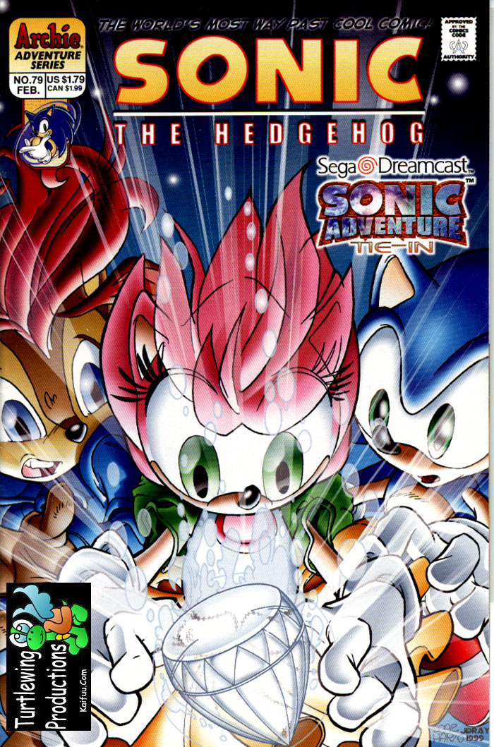 Sonic - Archie Adventure Series February 2000 Comic cover page