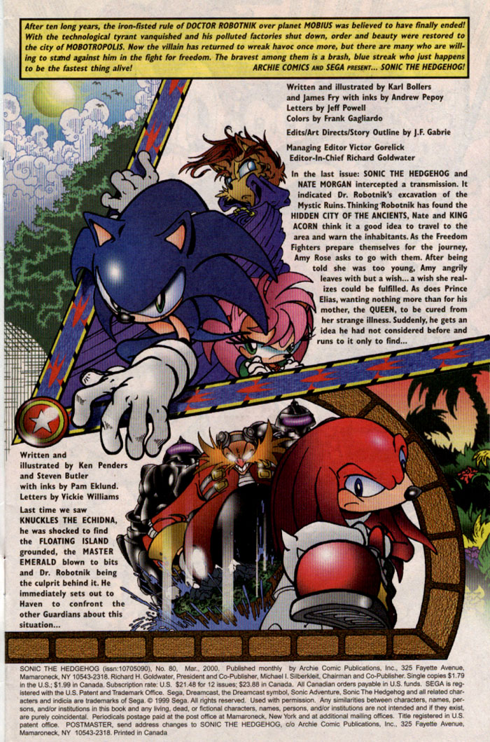 Sonic - Archie Adventure Series March 2000 Page 1