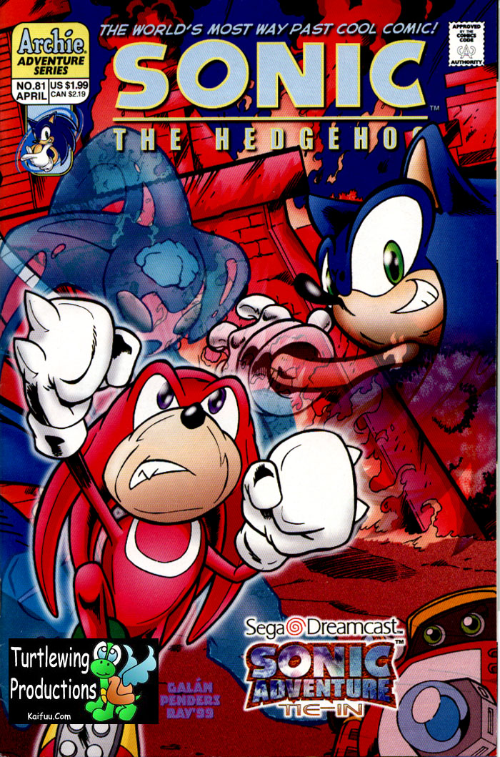 Sonic - Archie Adventure Series April 2000 Comic cover page