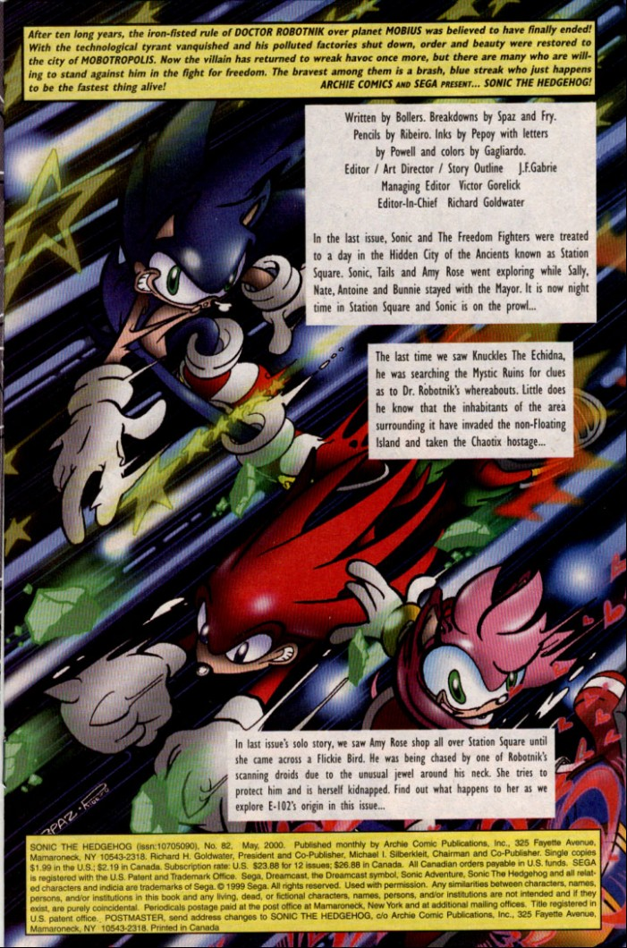Sonic - Archie Adventure Series May 2000 Page 1