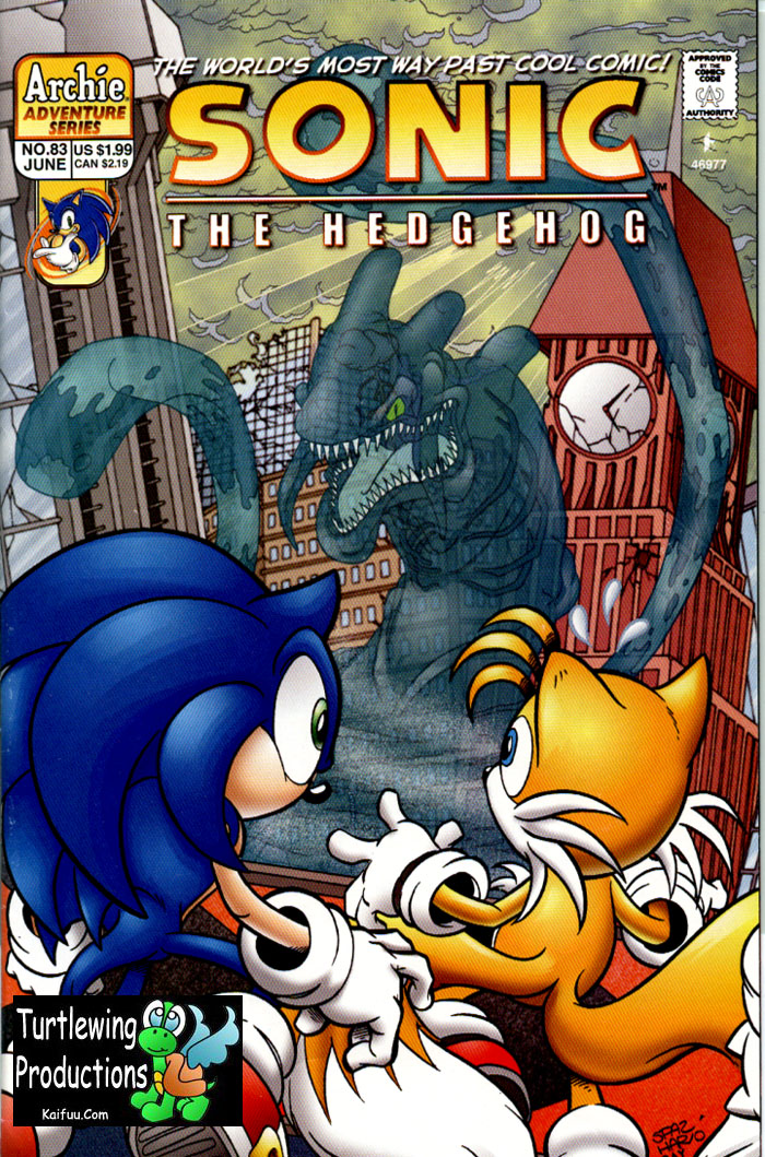 Sonic - Archie Adventure Series June 2000 Cover Page