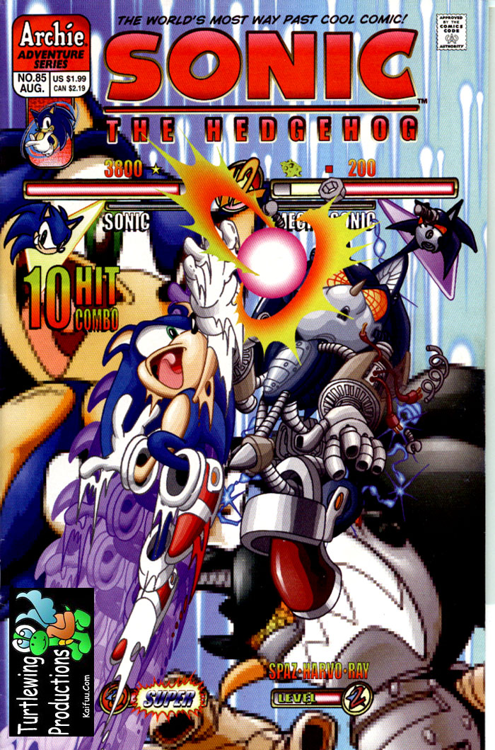 Sonic - Archie Adventure Series August 2000 Comic cover page