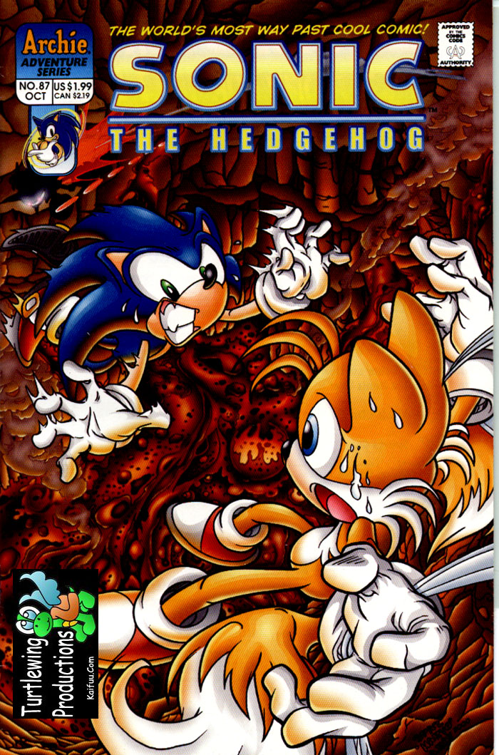 Sonic - Archie Adventure Series October 2000 Comic cover page