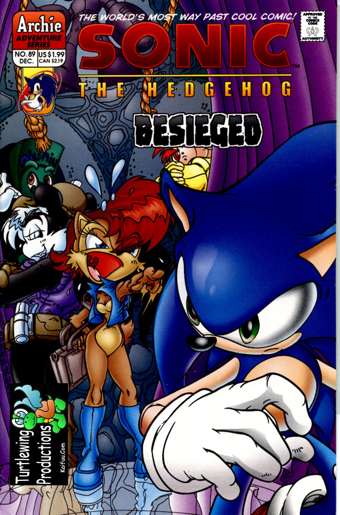 Sonic - Archie Adventure Series December 2000 Comic cover page