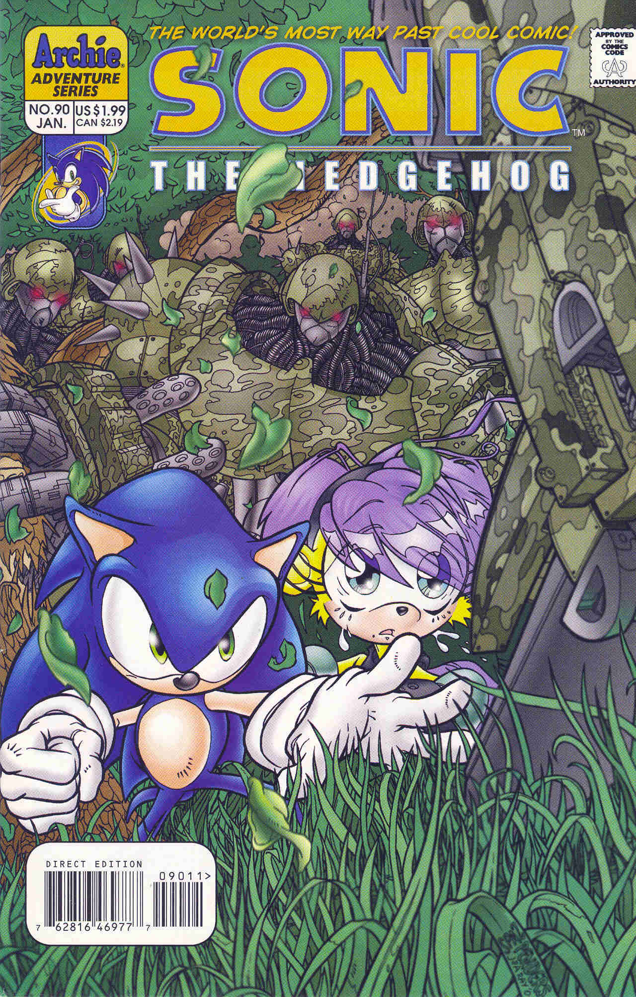 Sonic - Archie Adventure Series January 2001 Cover Page