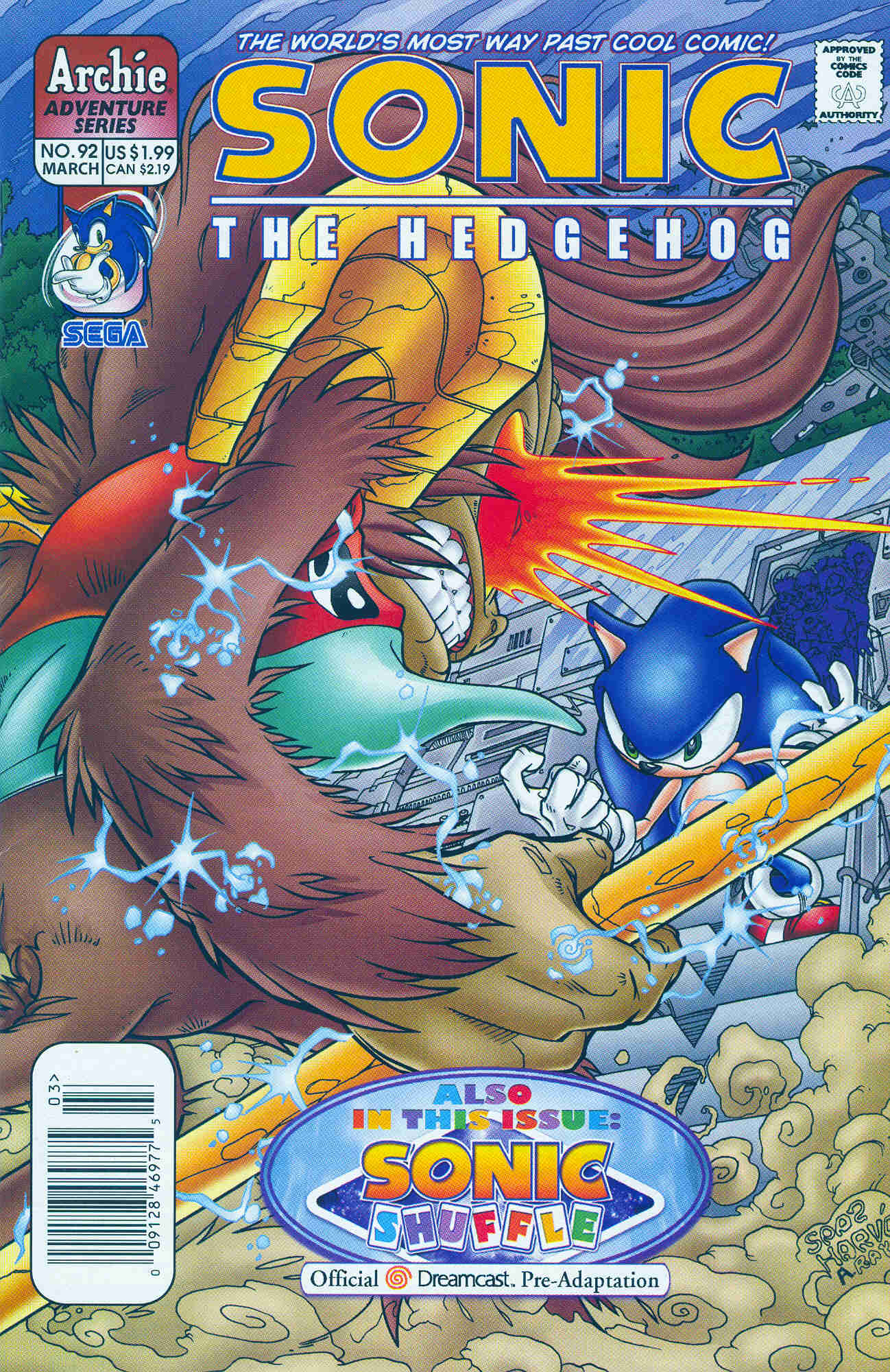 Sonic - Archie Adventure Series March 2001 Comic cover page