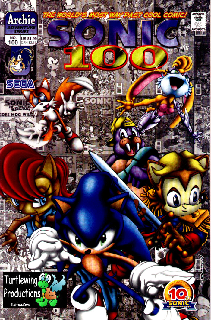 Sonic - Archie Adventure Series October 2001 Comic cover page
