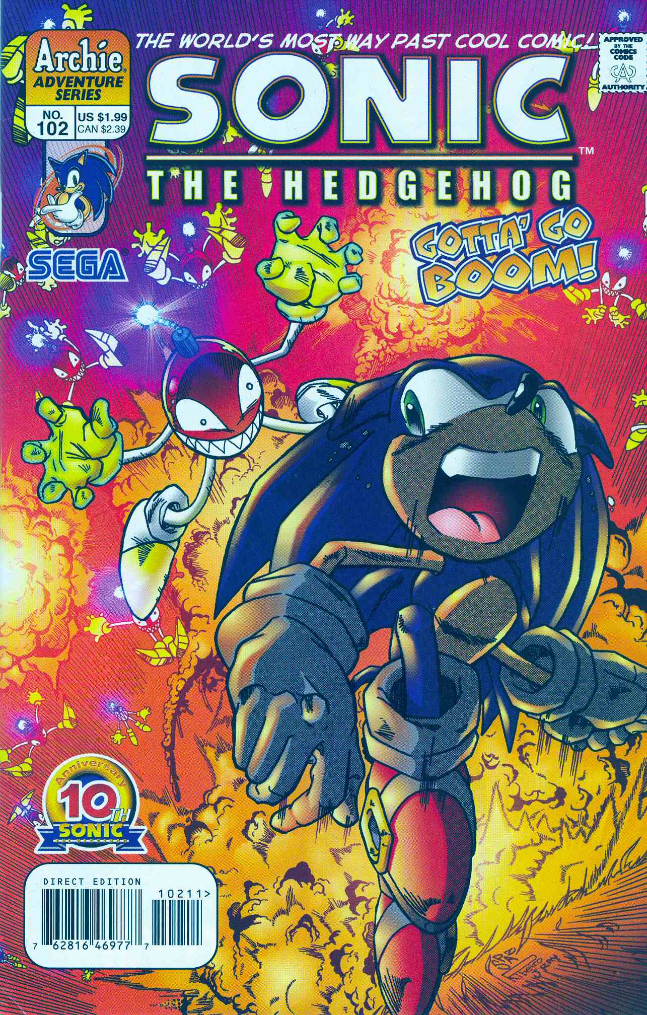 Sonic - Archie Adventure Series December 2001 Comic cover page