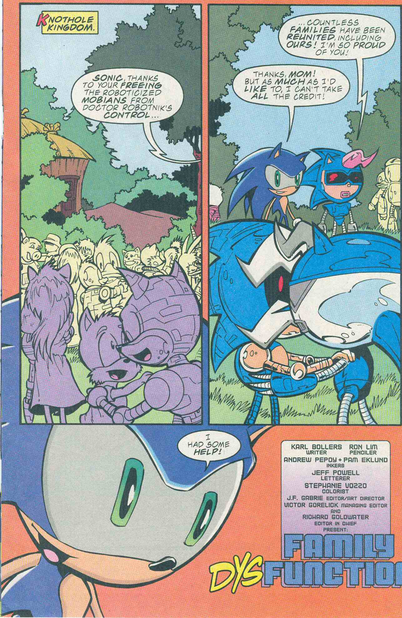 Sonic - Archie Adventure Series December 2001 Page 1