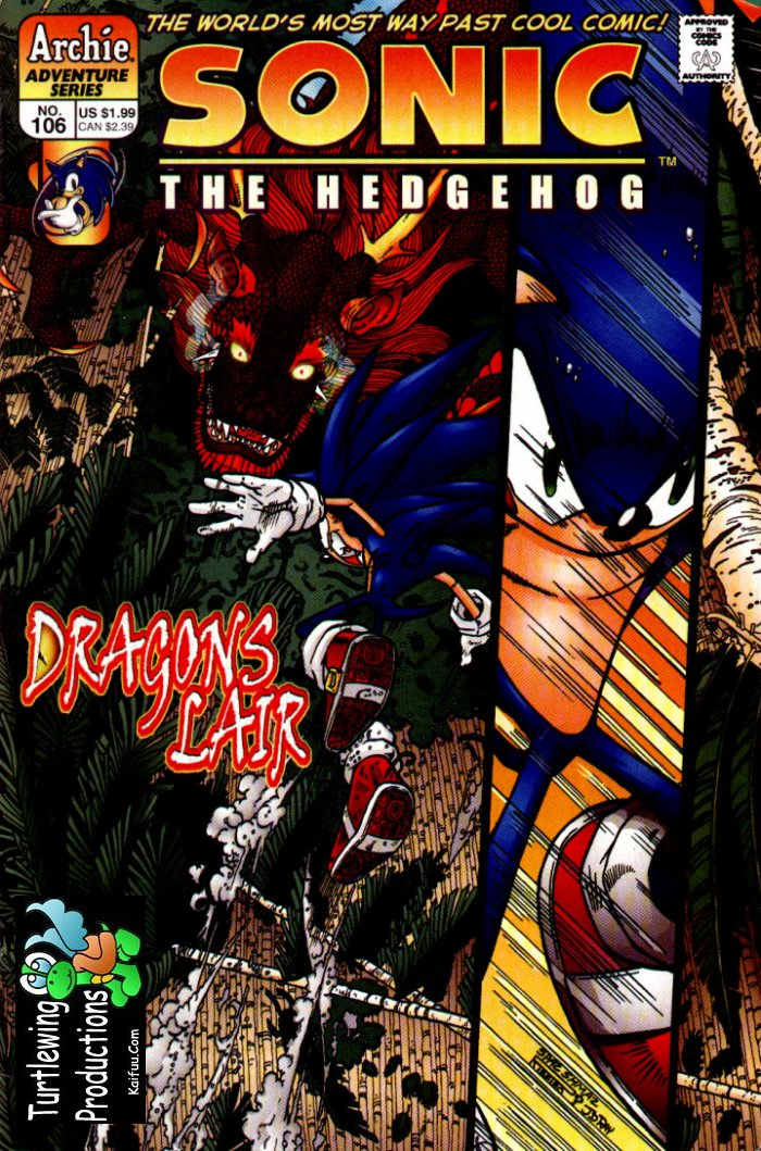 Sonic - Archie Adventure Series April 2002 Comic cover page