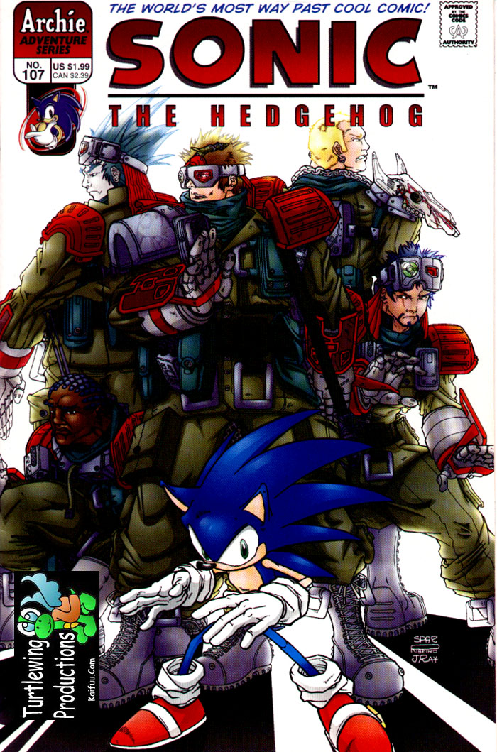 Sonic - Archie Adventure Series April 2002 Cover Page