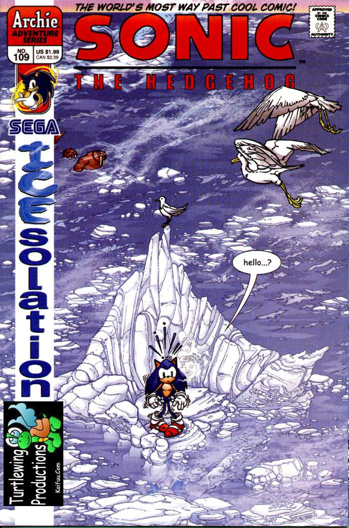 Sonic - Archie Adventure Series June 2002 Comic cover page