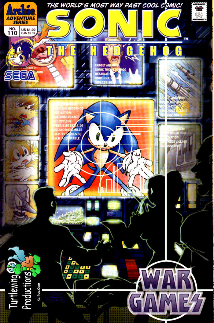 Sonic - Archie Adventure Series July 2002 Comic cover page
