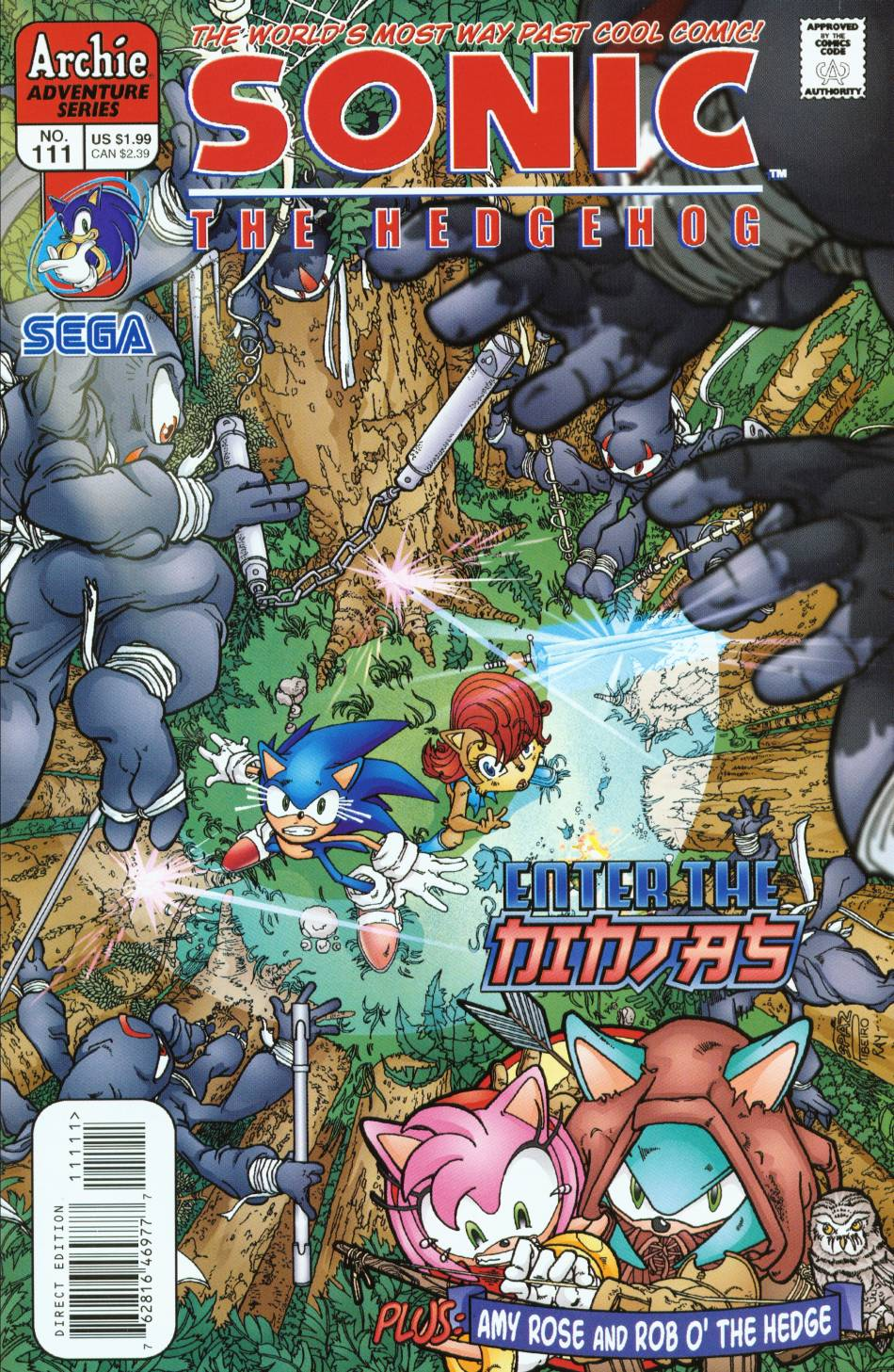 Sonic - Archie Adventure Series August 2002 Comic cover page