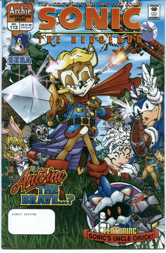 Sonic - Archie Adventure Series October 2002 Comic cover page